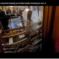 Man charged with smashing Capitol glass with Trump flagpole seconds before shooting #SootinClaimon.Com