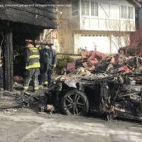 While they were asleep, their Teslas burned in the garage. It is a risk many automakers are taking seriously. #SootinClaimon.Com