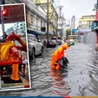 Sathorn battles flooding as heavy rains lash Bangkok #SootinClaimon.Com